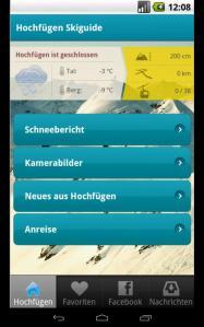 Hochfügen App
